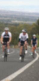 Cyclists climbing hillatth Tamworth Cycling Festival