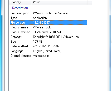 Windows 7 VMWare Workstation 16 VMWare Tools