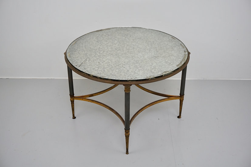 Mirror Topped Circular Occasional Table