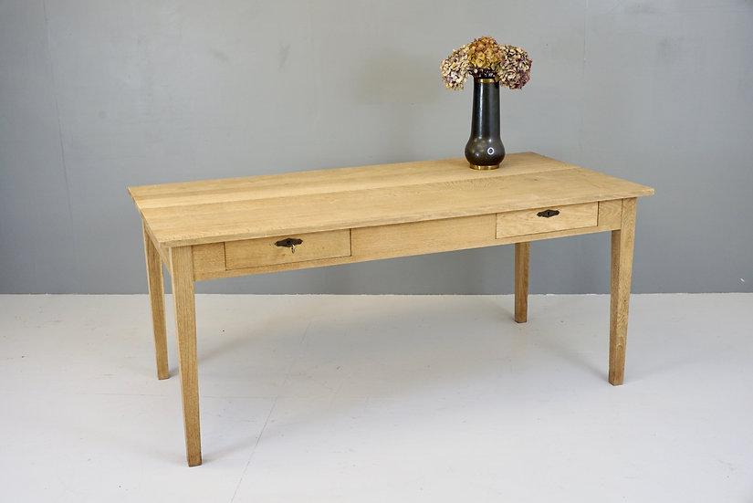 Stripped Oak Writing Table
