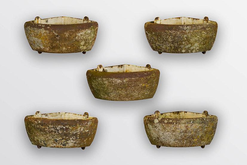 5 Cast Iron Planters