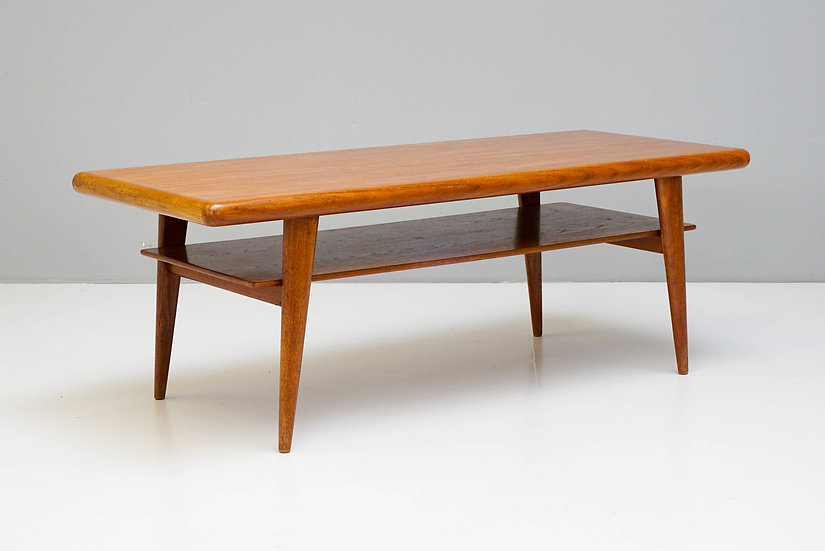 Large Mid Century Two Tiered Coffee Table