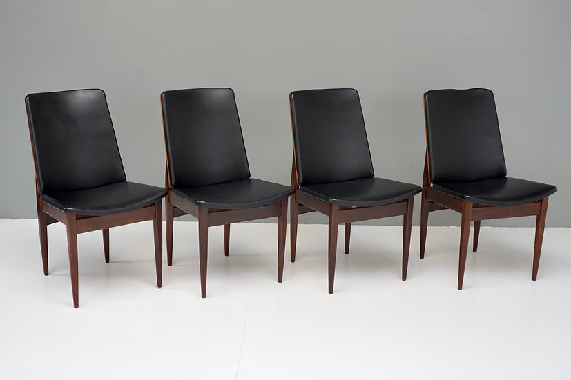 Set of Four Teak Dining Chairs by Elliots of Newbury