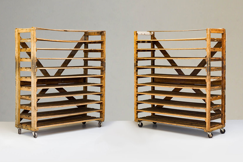 Pair of Large Pine Racks