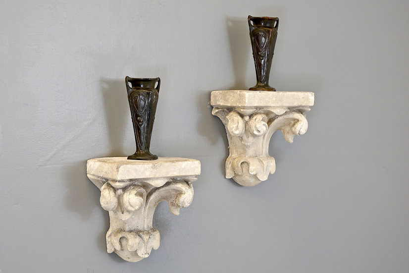 Pair of Plaster Corbels