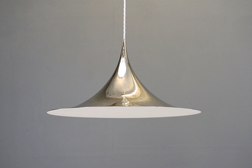 Polished Steel Pendant Light