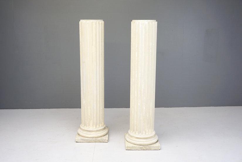 Pair of Plaster Columns