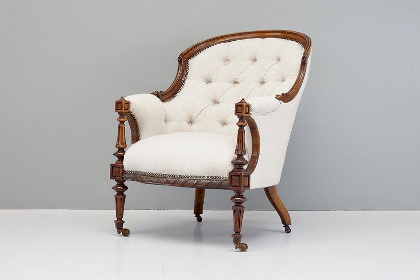 Deep Buttoned Armchair