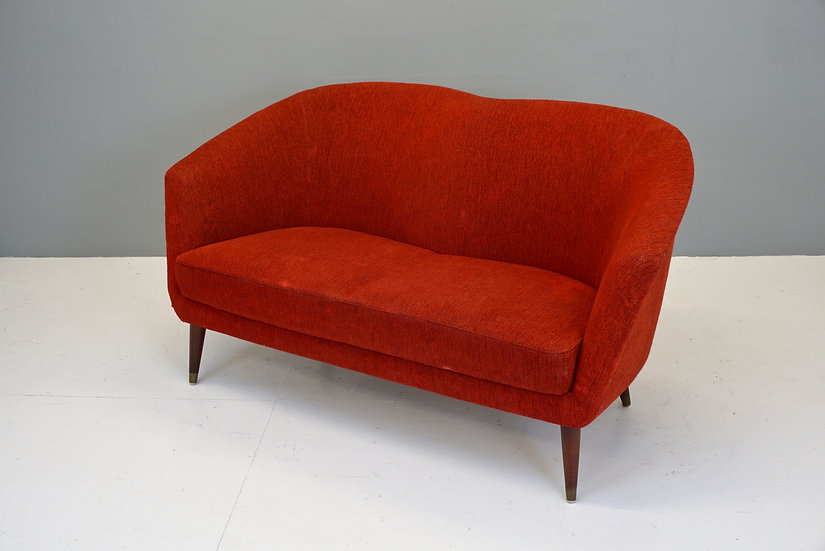 Mid Century Shaped Swedish Sofa