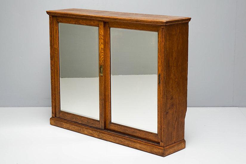2 Door Oak Bookcase