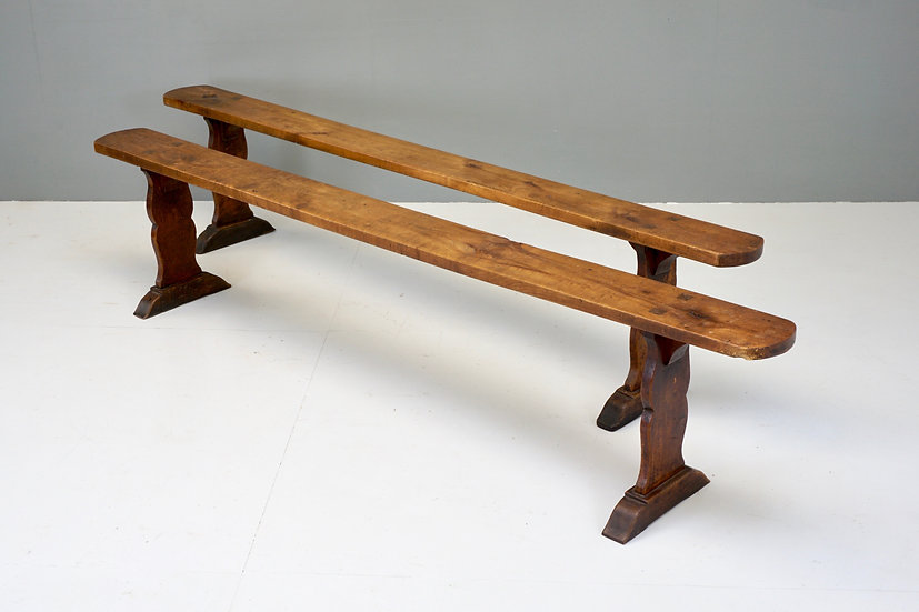 Pair of Cherry Benches