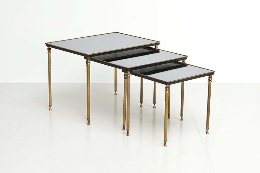 Mid Century Mirrored Nest of Tables