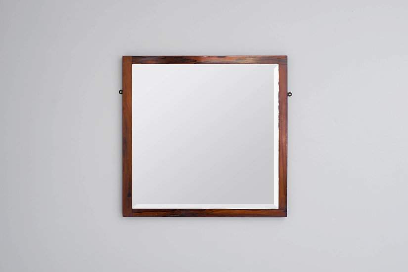 Victorian Square Rosewood Framed Mirror