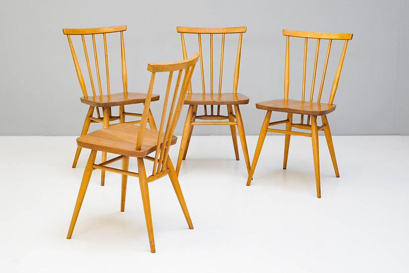 Set of Four Ercol Model 391 Dining Chairs