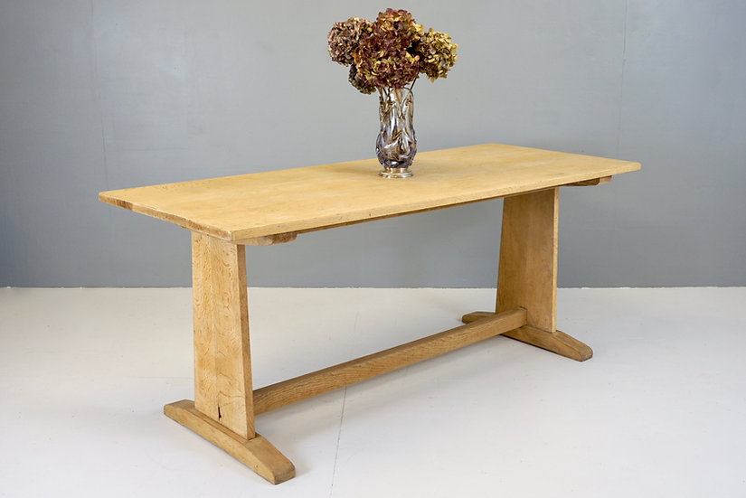 Stripped Oak Refectory Dining Table