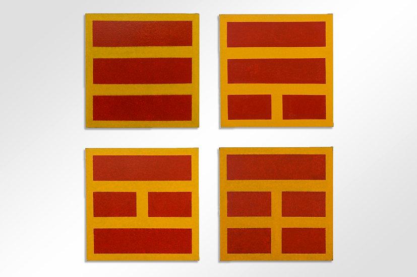 Series of Yellow and Red PaintingsbyFloreCivan-Giudicelli