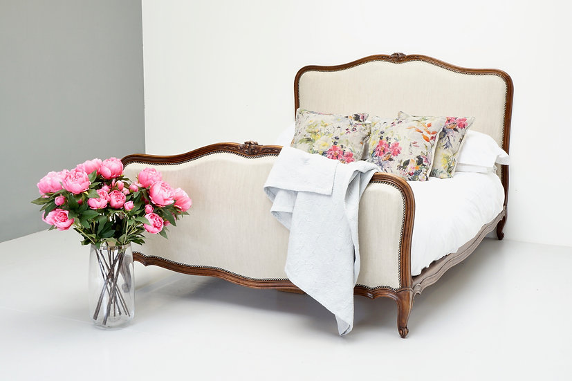French Reupholstered Bed