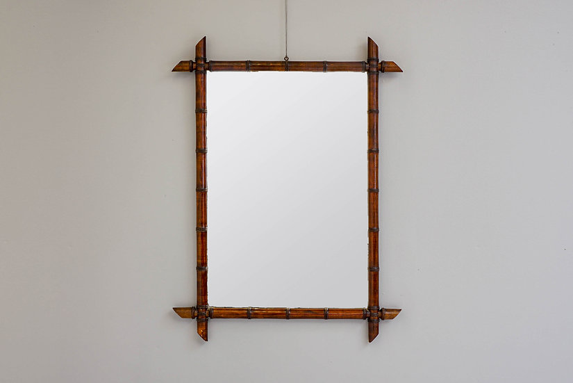 Faux Bamboo Victorian Mirror
