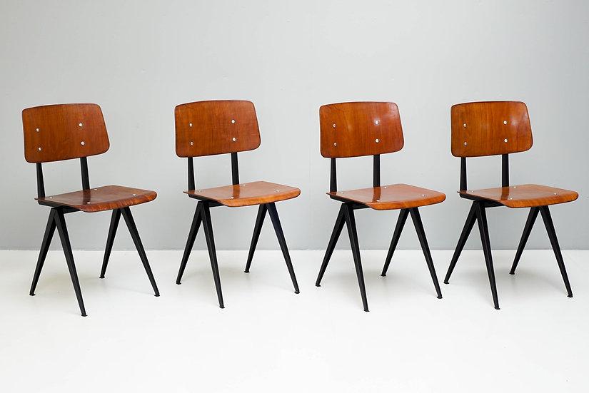 Set of 4 Galvanitis Chairs
