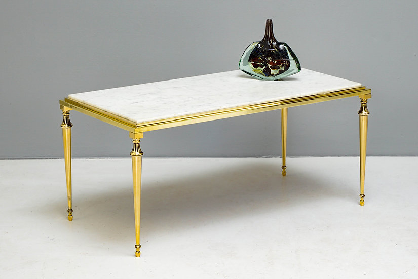Brass and Marble Coffee Table