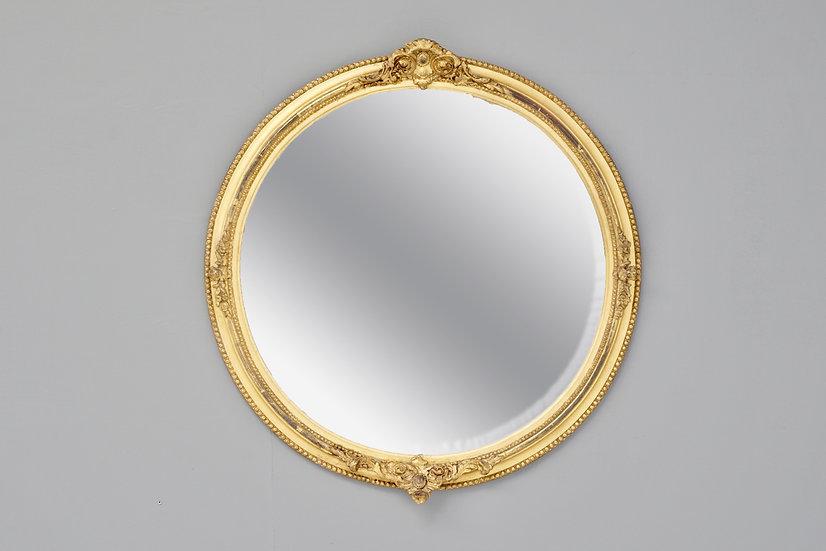 Gilded Circular Mirror