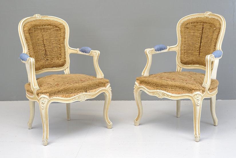 Pair of Salon Armchairs