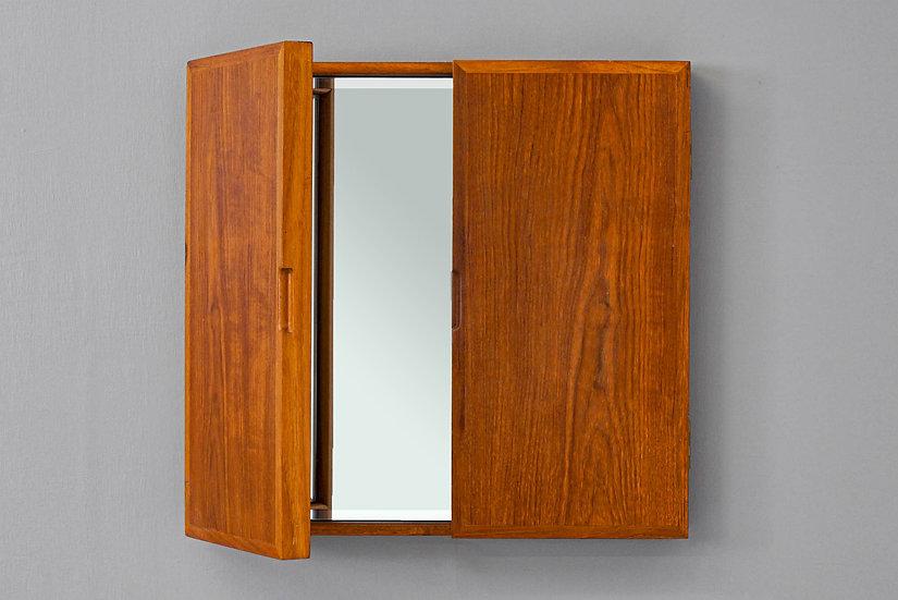 Danish Teak Tri-Fold Wall Mirror