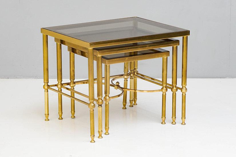 Nest of Brass Tables