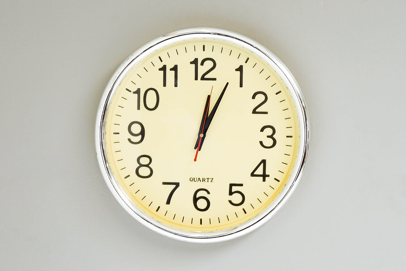 Quartz Wall Clock with Cream Face