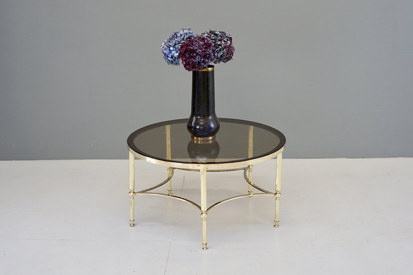Circular Brass Coffee Table