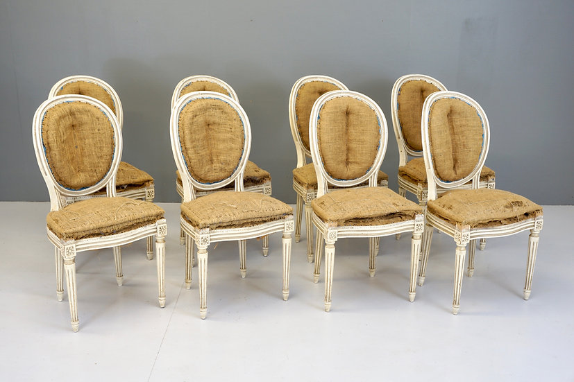 8 Oval Back Dining Chairs
