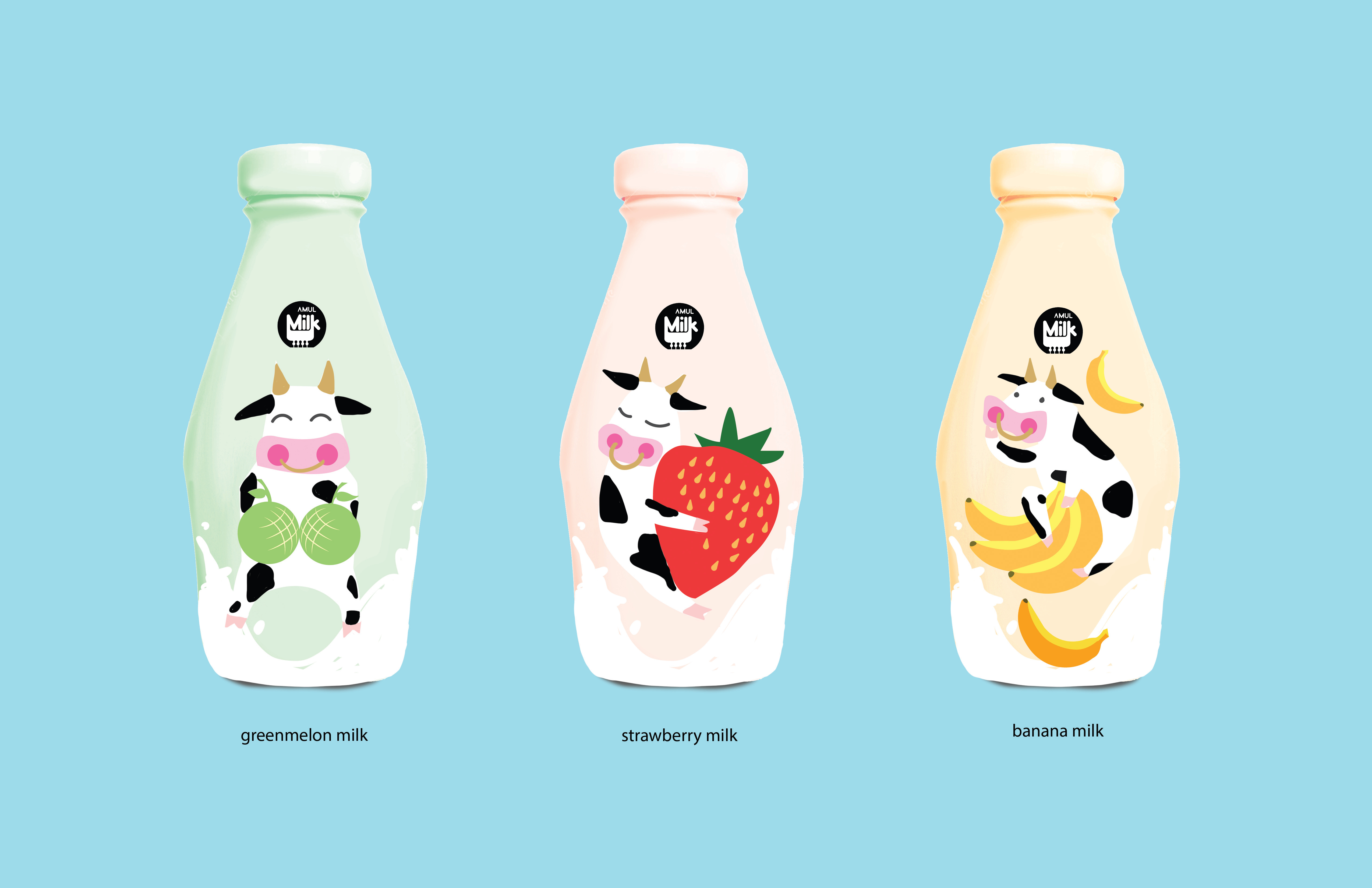 Milk package design front