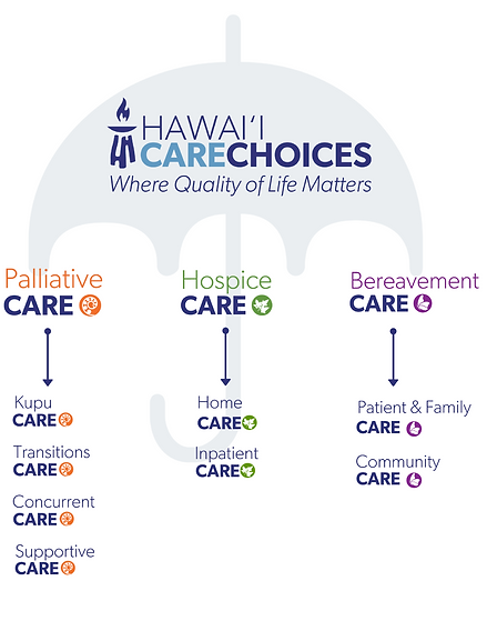 Hawai'i Care Choices Organization umbrella and service lines