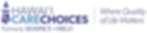 Logo, mark and tagline of Hawai'i Care Choices