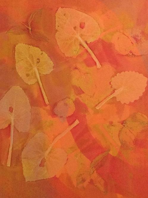 063 Orange Leaves 47 x 38