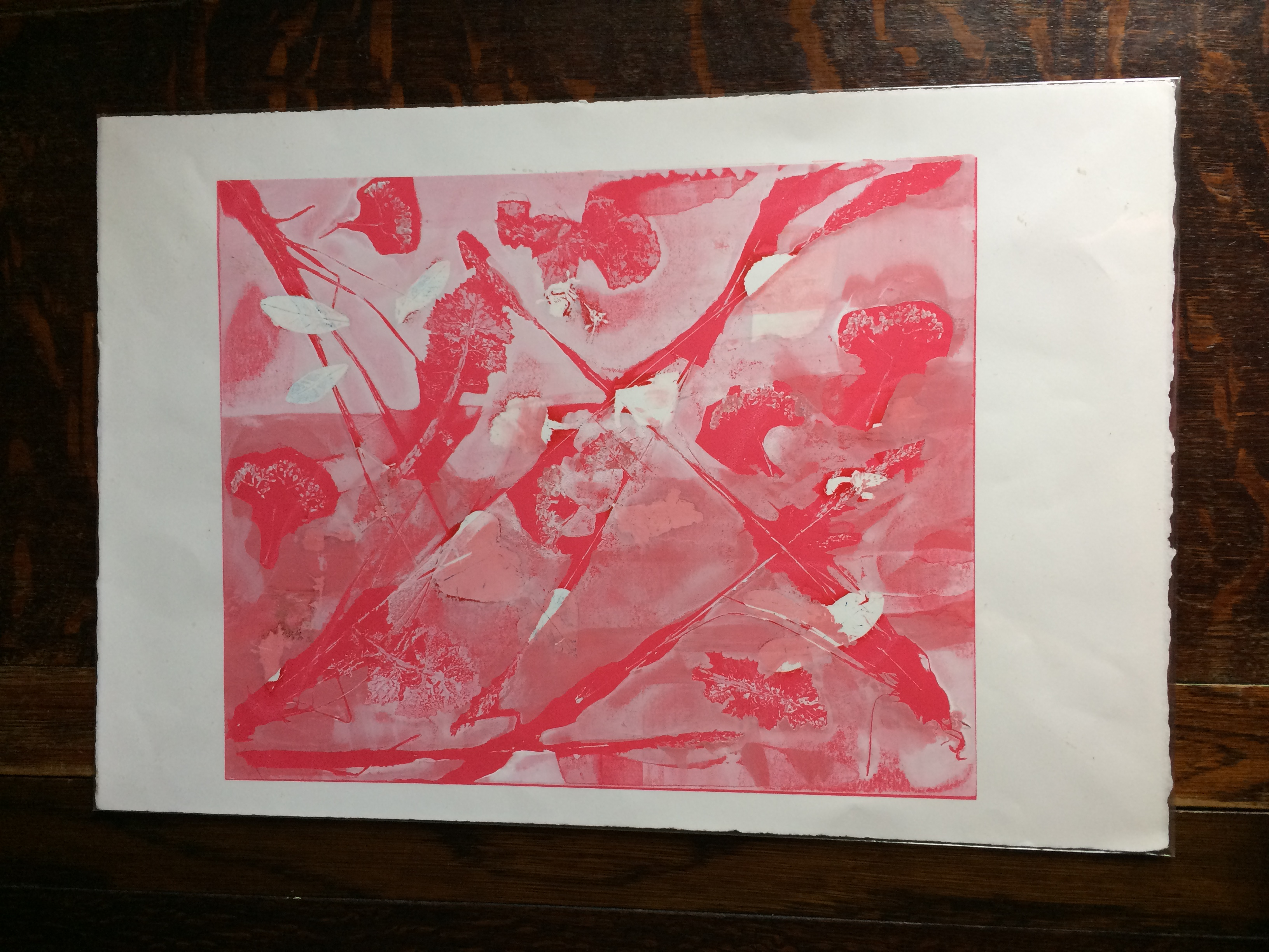 038 Pink Leaves 40 x 33