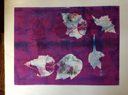 027 Fuschia Leaves 60 x 45