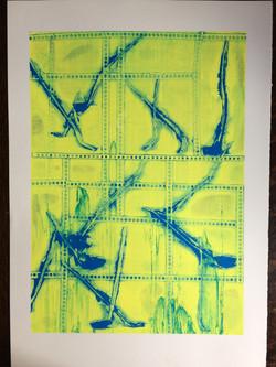 019 Yellow Leaf Frame 60 x 48