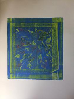 006 Leaves Framed 43 x 40