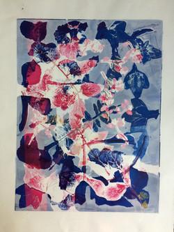 032 Leaves 39 x 30