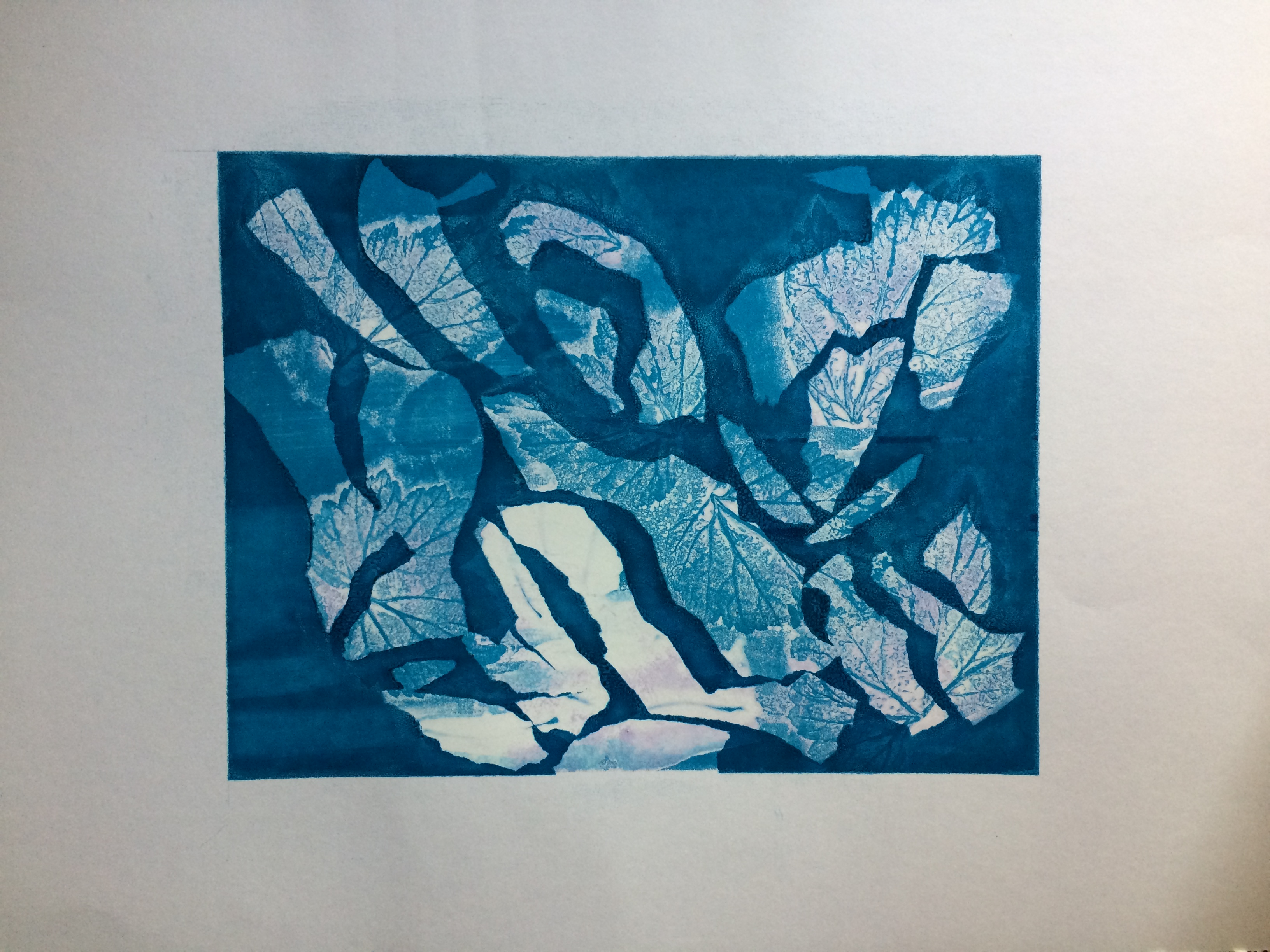 067 Blue Leaves  40 x 30