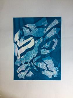 067 Blue Leaves  40 x 30