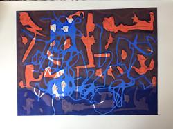 013 Print Red Azul 60 x 46