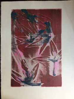 022 Silver Red Leaves 59 x 39