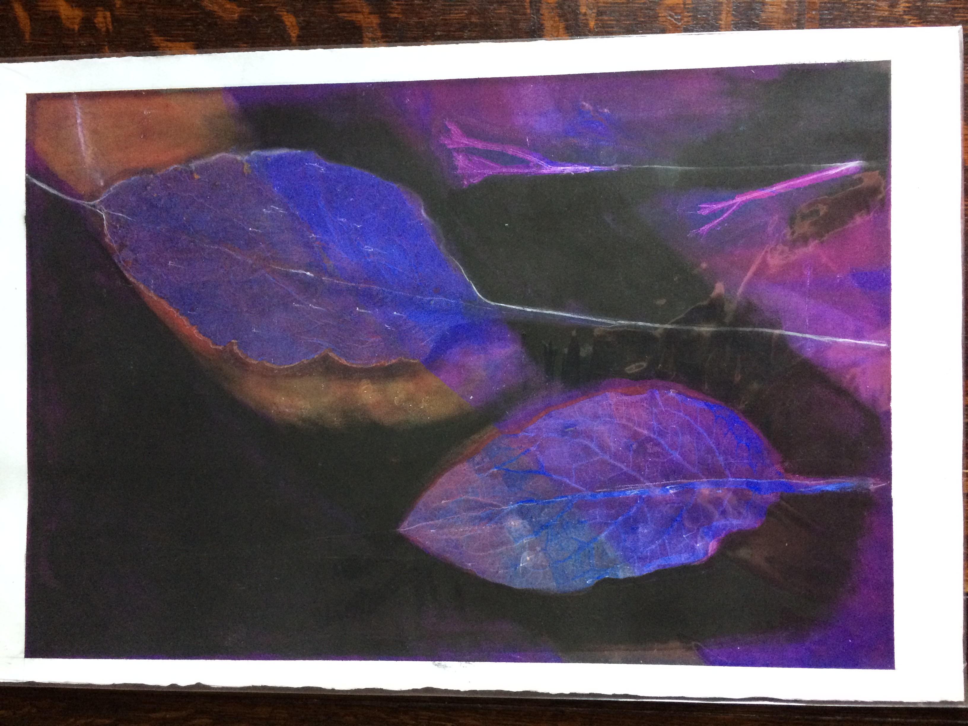 034 Purple Leaves 45 x 30