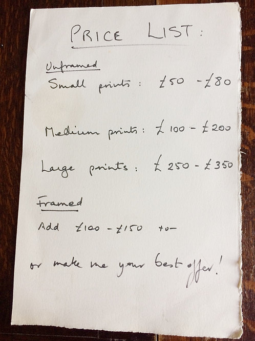 Price List by Mum