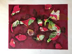 042 Leaves 39 x 30