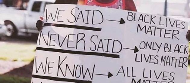 Time to Listen. Black Lives Matter.