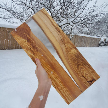OLIVE WOOD WITH CLEAR EPOXY - $150