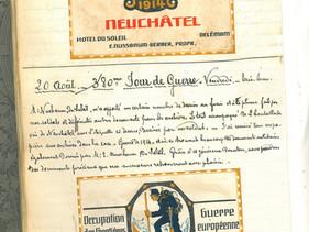 20 août 1915 – Un « design » militaire pour des étiquettes de vin